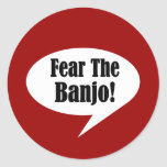 Funny Banjo Quote Round Stickers