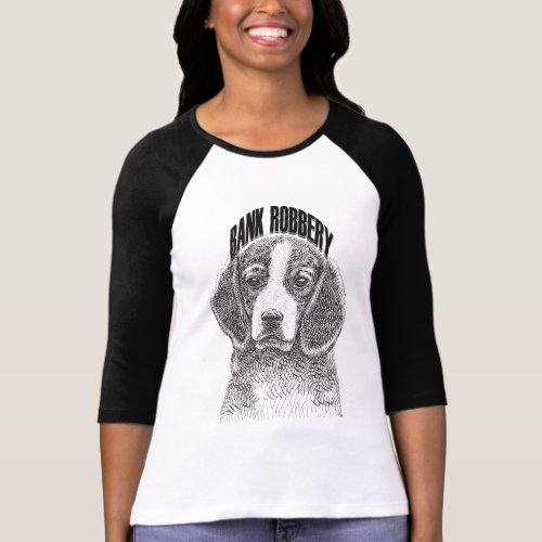 funny bank robbery dog T-Shirt