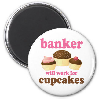 Funny Banker 2 Inch Round Magnet