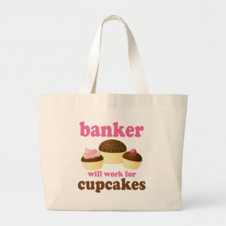 Funny Banker Large Tote Bag
