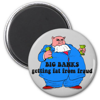Funny banks fridge magnet