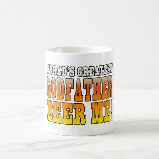 Funny Baptisms Birthdays Worlds Greatest Godfather Classic White Coffee Mug