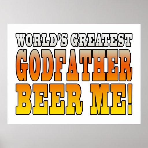 Funny Baptisms Birthdays Worlds Greatest Godfather Poster