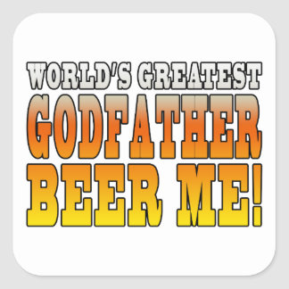 Funny Baptisms Birthdays Worlds Greatest Godfather Square Sticker