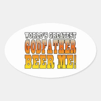Funny Baptisms Birthdays Worlds Greatest Godfather Oval Sticker