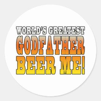 Funny Baptisms Birthdays Worlds Greatest Godfather Classic Round Sticker