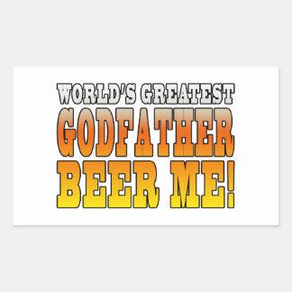 Funny Baptisms Birthdays Worlds Greatest Godfather Rectangular Sticker