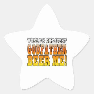 Funny Baptisms Birthdays Worlds Greatest Godfather Star Sticker