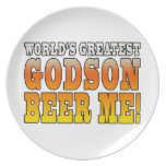 Funny Baptisms Birthdays Worlds Greatest Godson Party Plates