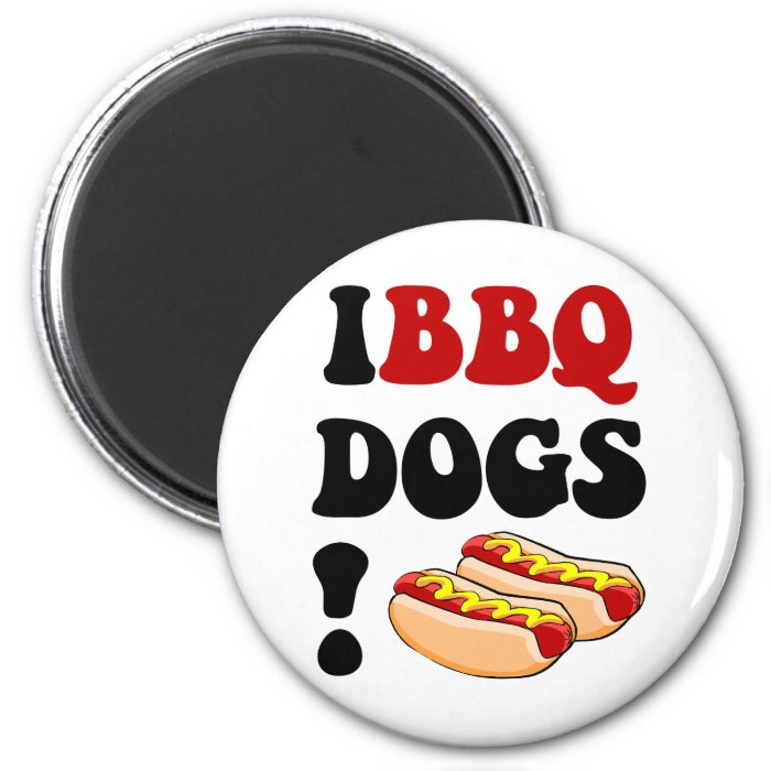 Funny barbecue 2 inch round magnet