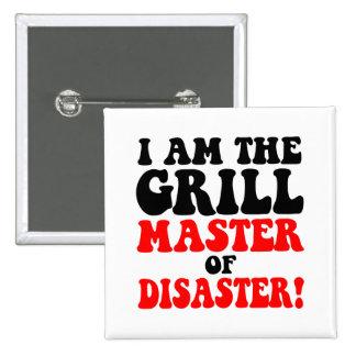 Funny barbecue 2 inch square button