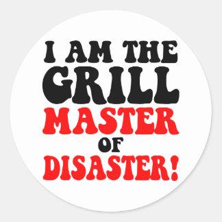 Funny barbecue classic round sticker