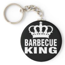 Funny Barbecue Design Barbeque king Keychain