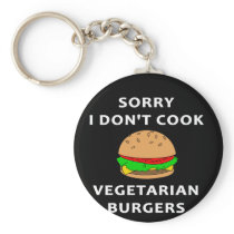 Funny Barbecue Design Sorry, I Don't Cook Keychain