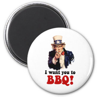 Funny barbecue fridge magnets