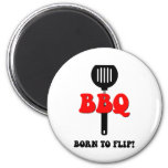 Funny barbecue magnet