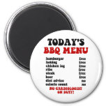 Funny Barbecue Menu 2 Inch Round Magnet