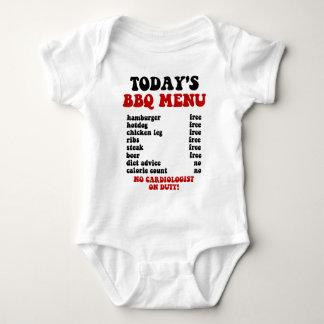 Funny Barbecue Menu Baby Bodysuit