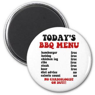 Funny Barbecue Menu Magnet