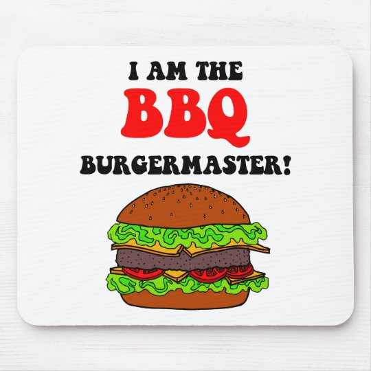 Funny barbecue mouse pad