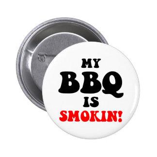 Funny barbecue pinback button