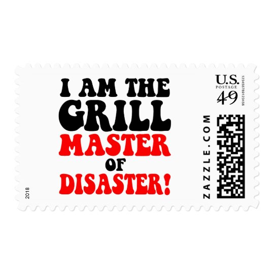 Funny barbecue postage
