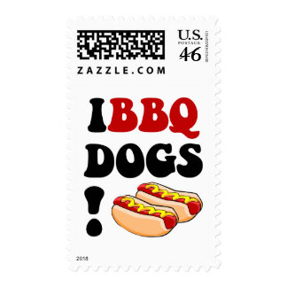 Funny barbecue postage stamps