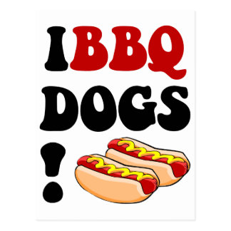 Funny barbecue post cards