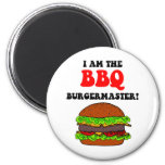 Funny barbecue refrigerator magnet