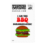 Funny barbecue stamps