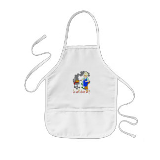 Funny Barbeque Design - Is Well Done OK? Kids' Apron