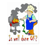 Funny Barbeque Design - Is Well Done OK? Post Cards