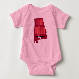 Funny Barcode Alabama State Slogan Baby Body Suit Baby Bodysuit
