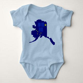 Funny Barcode Alaska State Slogan Baby Onepiece Baby Bodysuit