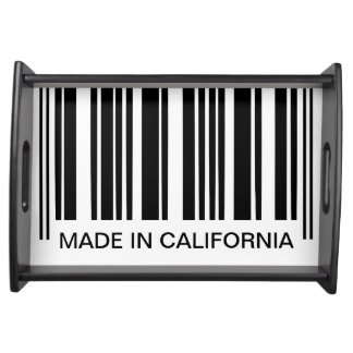Funny Barcode Black and White Stripes Custom Text Serving Tray