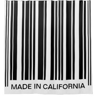Funny Barcode Black and White Stripes Shower Curtain