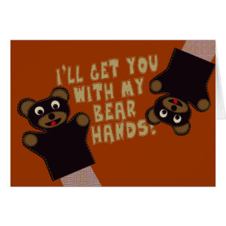 Funny Bare Hands Greeting Card