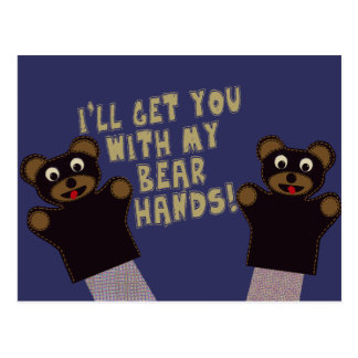 Funny Bare Hands Postcard