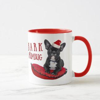 Funny BARK Humbug French Bulldog Christmas Mug