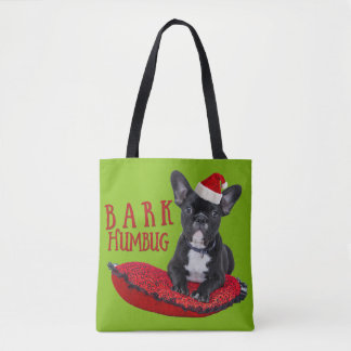 Funny BARK Humbug French Bulldog Festive Bag