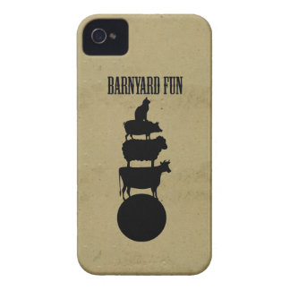 Funny barnyard fun friends vintage farm animals iPhone 4 cover