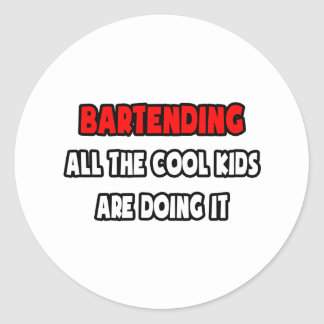Funny Bartender Shirts and Gifts Classic Round Sticker