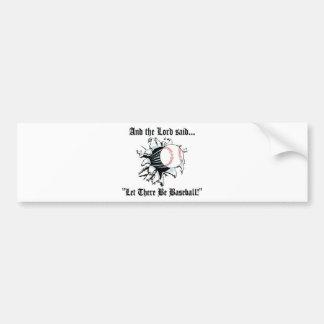 Funny Baseball Bumper Sticker