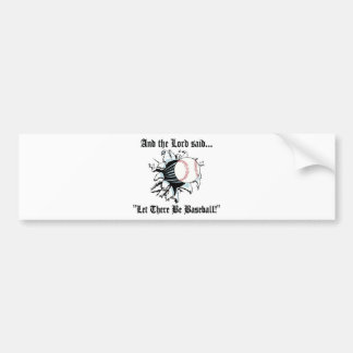 Funny Baseball Car Bumper Sticker