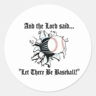 Funny Baseball Classic Round Sticker