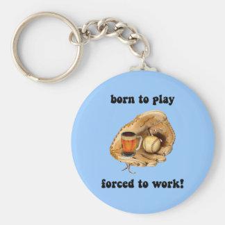 funny baseball key chains