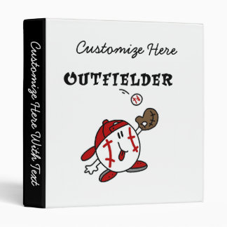 Funny Baseball Outfielder T-shirts and Gifts 3 Ring Binder