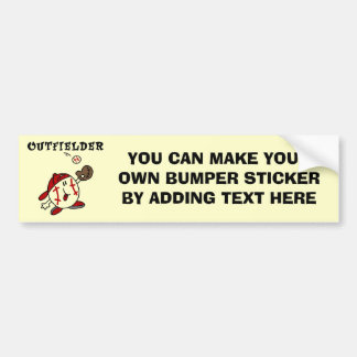 Funny Baseball Outfielder T-shirts and Gifts Bumper Sticker
