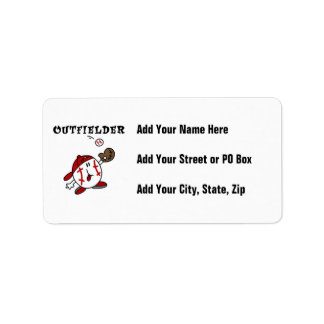 Funny Baseball Outfielder T-shirts and Gifts Label