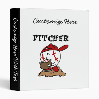 Funny Baseball Pitcher T-shirts and Gifts 3 Ring Binder